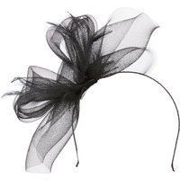 Linea Sophia crin loop fascinator, Black