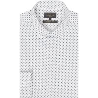 Men's Label Lab Otis Polka Dot Skinny Shirt, White