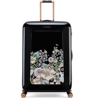 Ted Baker Gem garden 8 wheel large suitcase, Black