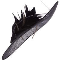 Biba Vivien Sheriff Verity feather hat fascinator, Black
