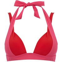 Heidi Klum Intimates Savannah sunset cross back bikini top, Pink