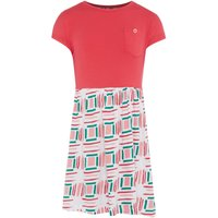 Benetton Girls Solid Top and Print Skirt Dress, Pink - Seek Gifts