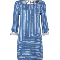 Mink Pink Tangier striped long sleeve swing dress, Multi-Coloured - Seek Gifts