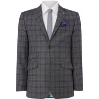 Mens Ted Baker Grave Checked Suit Jacket, Grey