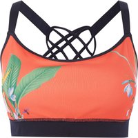 Ted Baker Tropical oasis printed sports bralette, Red