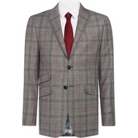 Mens Ted Baker Hemple Prince of Wales Check Suit Jacket, Light Grey