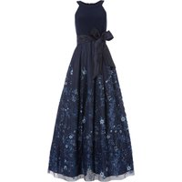 Eliza J Sleeveless gown with floral embellishment, Blue