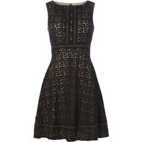 Eliza J Sleeveless lace dress with ladder detail, Black