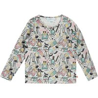 Little Dickins & Jones Girls Glitter Make Up Print, Grey