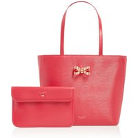 Ted Baker Larah looped bow shopper bag, Pink