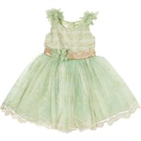 Disney The Boutique Collection Girls Tinkerbelle Embroidered Lace Dress, Mint