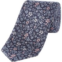 Howick Tailored Meadow Floral Jaquard Silk Tie, Blue