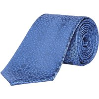 Howick Tailored Harper Ditsy Floral Jaquard Silk Tie, Blue