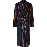 Men's Howick Multistripe Towelling Dressing Gown, Multi-Coloured