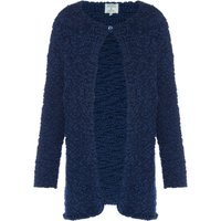 Little Dickins and Jones Girls Fluffy Chunky Cardigan, Blue