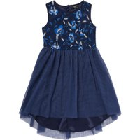 Bardot Junior Girls Floral Bodice Dress With Dip Hem, Blue