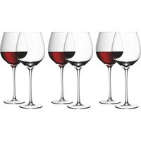 LSA WINE Red Wine Glasses 6 for 4, Red