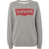 Levi's Vintage Batwing Logo Long Sleeve Sweatshirt, Light Grey