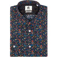 Men's PS By Paul Smith Cotton Earth Floral Micro Print Tailored Shirt, Blue