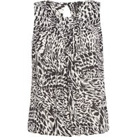 Vero Moda Short sleeves animal print top, Black