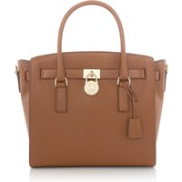 Michael Kors Hamilton large satchel tote bag, Tan
