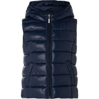 Benetton Girls Padded Hooded Gilet, Blue