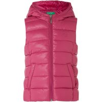 Benetton Girls Padded Hooded Gilet, Pink