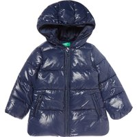 Benetton Girls Padded Hooded Jacket, Blue