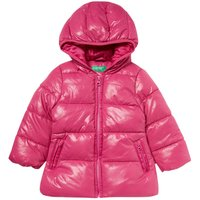 Benetton Girls Padded Hooded Jacket, Pink