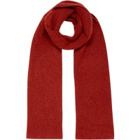 Part Two Itna Plain Knitted Scarf, Brick