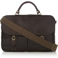 Barbour Wax Briefcase, Olive