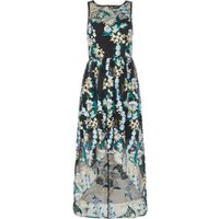 Adrianna Papell Embroidered hi low floral dress, Blue