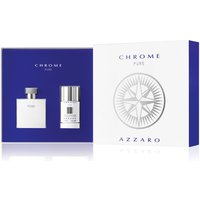 Azzaro Azzaro Chrome Pure Gift Set, Silver