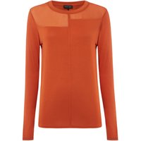 Label Lab Long Sleeve Chiffon Mix & Match Tee, Cinnamon