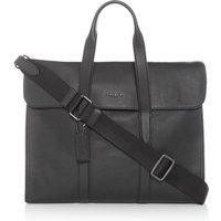 Coach Metropolitan Pebble Leather Portfolio Bag, Black