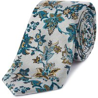 Ted Baker Thistle Floral Jacquard Tie, Silver