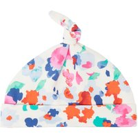 Joules Baby Girls Floral Print Knot Top Hat, Cream
