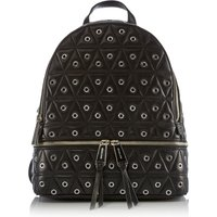 Michael Kors Rhea zip medium quited stud backpack, Black