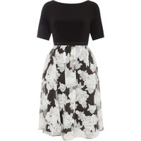 Adrianna Papell Floral shift dress, Black