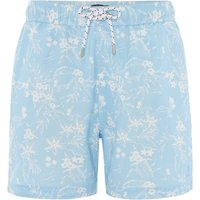 Men's Howick New Hawaiian Print Swim Shorts, Sky - Hawaiian Gifts