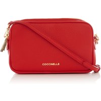 Coccinelle Surya bubble camera cross body bag, Red