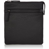 Hugo Boss Victorian Soft Grain Leather Crossbody Bag, Black