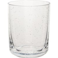 Gray & Willow Clear Bubble Glass Tumbler, Clear