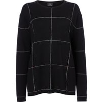 PS By Paul Smith Oversized checked knit jumper, Black