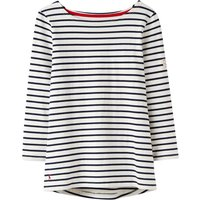 Joules Harbour Long Sleeve Stripe Jersey Tshirt, Cream