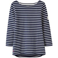 Joules Harbour Long Sleeve Stripe Jersey Tshirt, French Blue