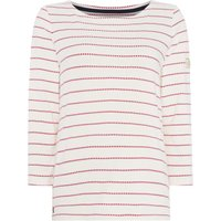 Joules Harbour Long Sleeve Stripe Jersey Tshirt, Red