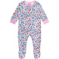 Joules Baby Girl Kitty Ditsy Floral All In One, Pink