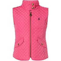Joules Girls Zip Up Quilted Gilet, Pink