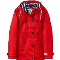 Joules Waterproof Hooded Jacket With Toggle, Red